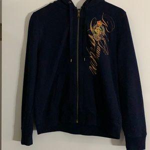 Ralph Lauren Zip Hood Sweatshirt Sz M